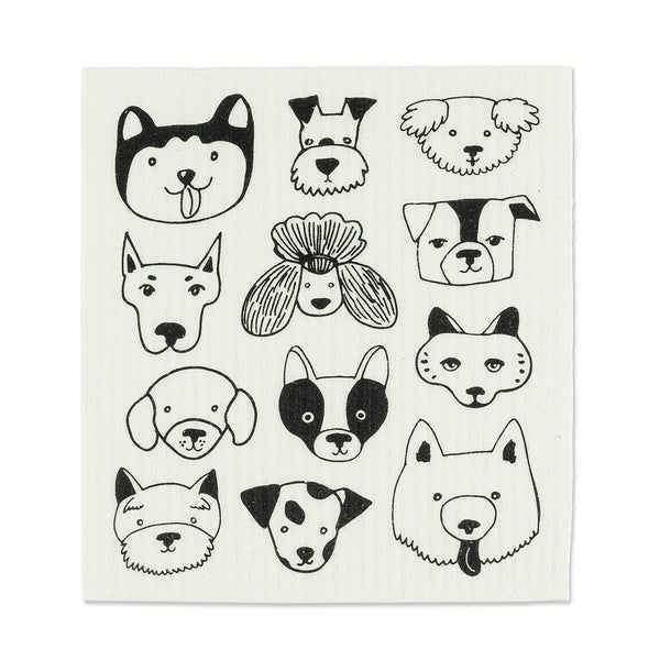 Swedish dishcloths - Dog faces