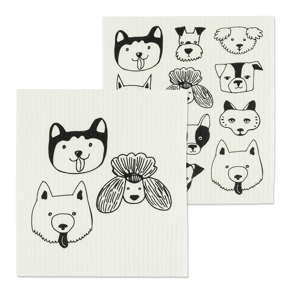 swedish dishcloth dog faces gift for dog lover