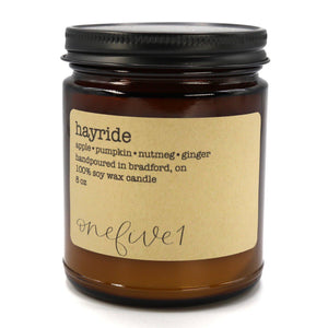 Soy candle - Hayride - Cheerfetti Gift Co.