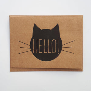 Card - Cute cat hello