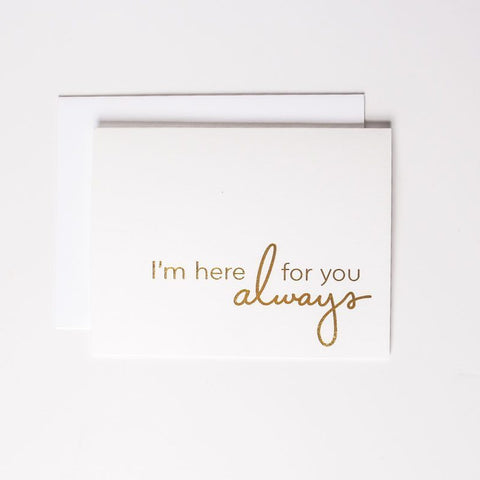 Card - Here for you - Cheerfetti Gift Co.