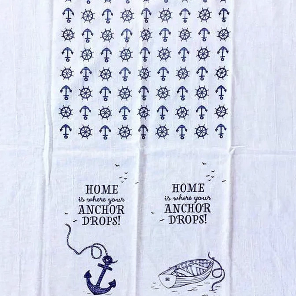 Tea towel - Home is where your anchor drops