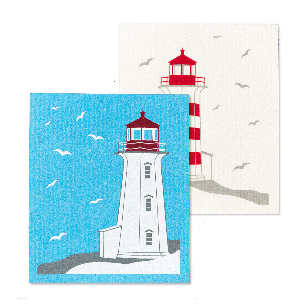 Swedish dishcloth lighthouses
