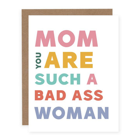 Card - Mom Bad Ass Woman