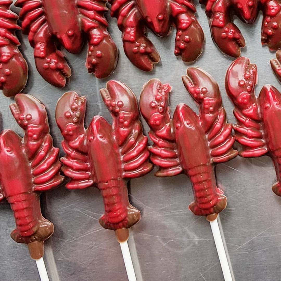 Chocolate red lobster lollie