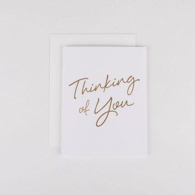 Card - Thinking of you gold
