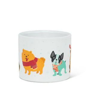 Winter dogs planter