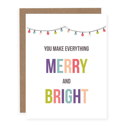 Holiday card - Merry and Bright