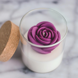 Zoet studio rose soy candle