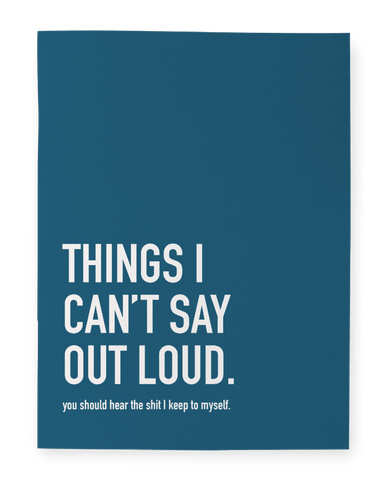 Notebook - Can't say out loud - Cheerfetti Gift Co.