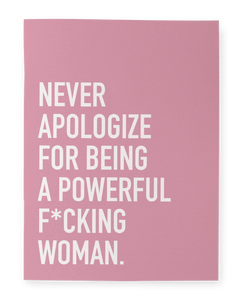 Notebook - Powerful woman - Cheerfetti Gift Co.