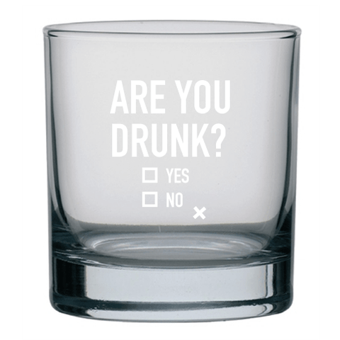 Rocks glass - Are you drunk - Cheerfetti Gift Co.