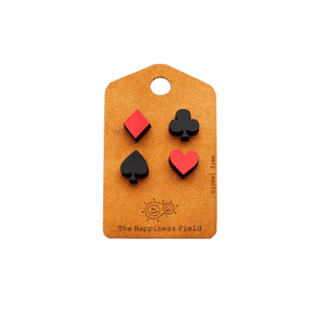 Wooden earrings - Suit yourself - Cheerfetti Gift Co.