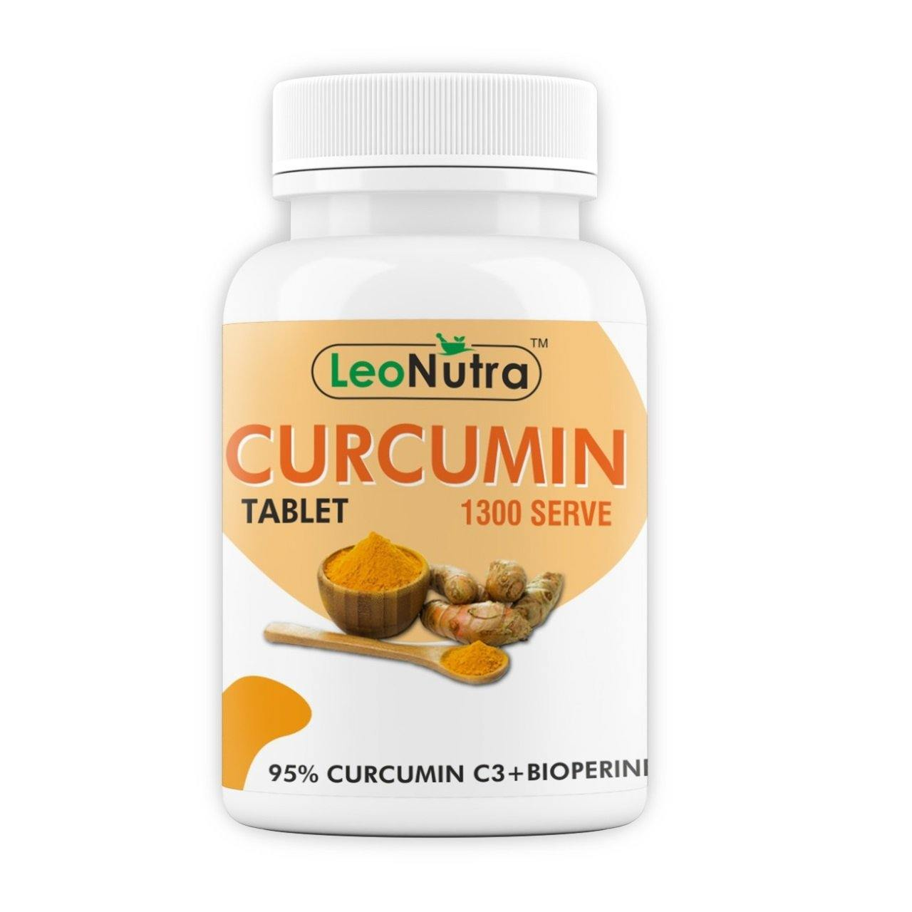 LeoNutra Curcumin Tablet 800 mg - 60 Tablets | 1300 Serve