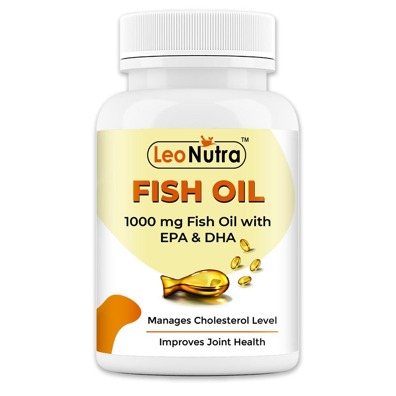 Leonutra Fish Oil (1000 omega 3, with 180 mg EPA & 120 mg DHA) - 60 Softgels