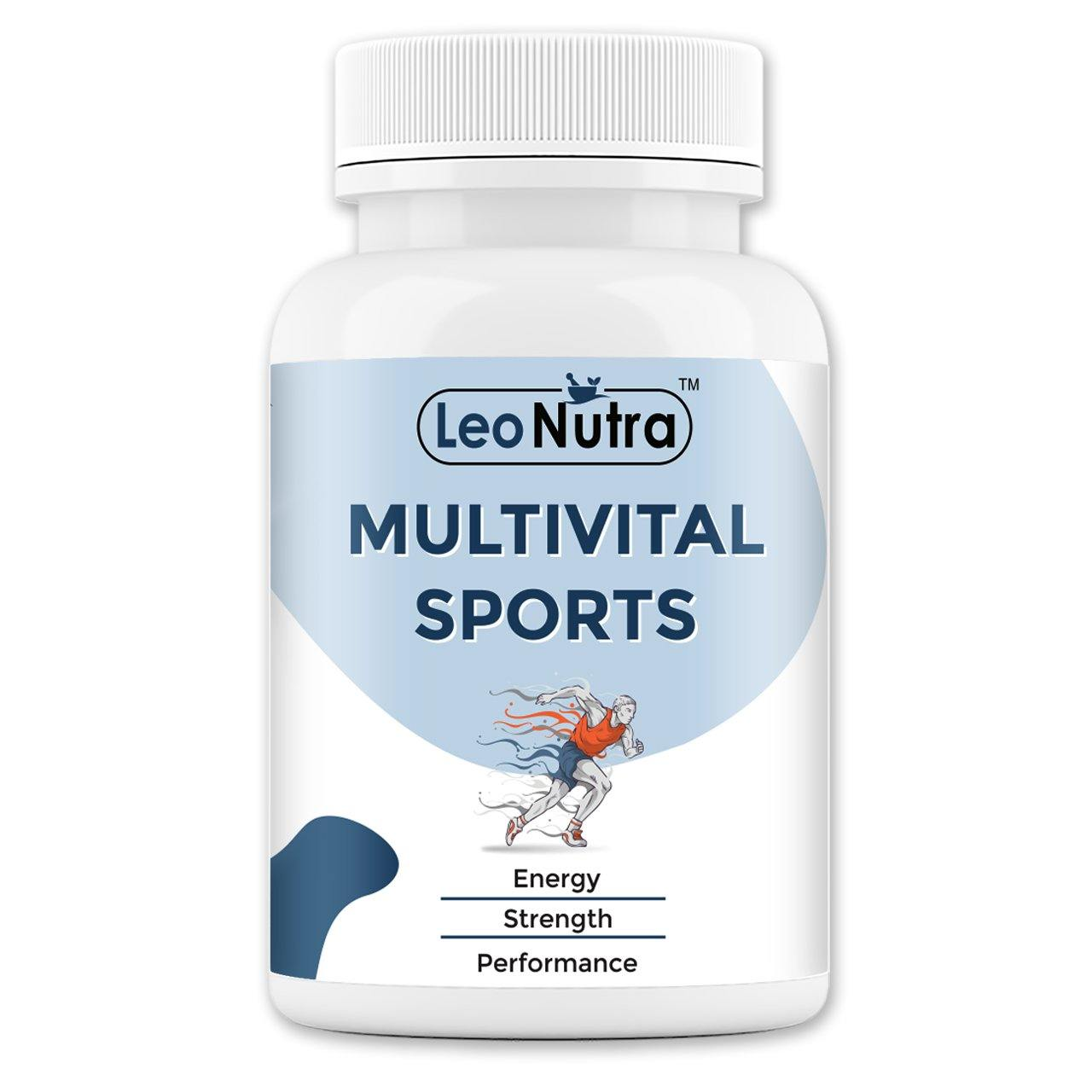LeoNutra Multivital Tablets | MultiVitamin Sports with 60+ Nutrients - 90 Tablets | Vitamins, Minerals, Amino Acid, Probiotics