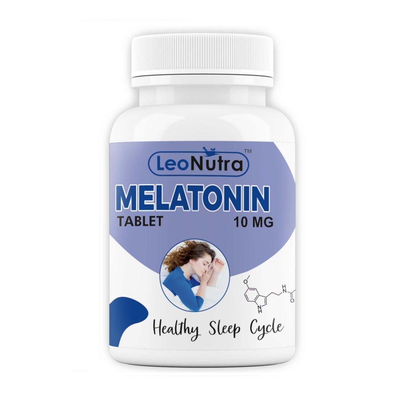 LeoNutra Melatonin 10 mg (Healthy Sleep Cycle) - 90 Tablets (90) | Stress & Anxiety Relief