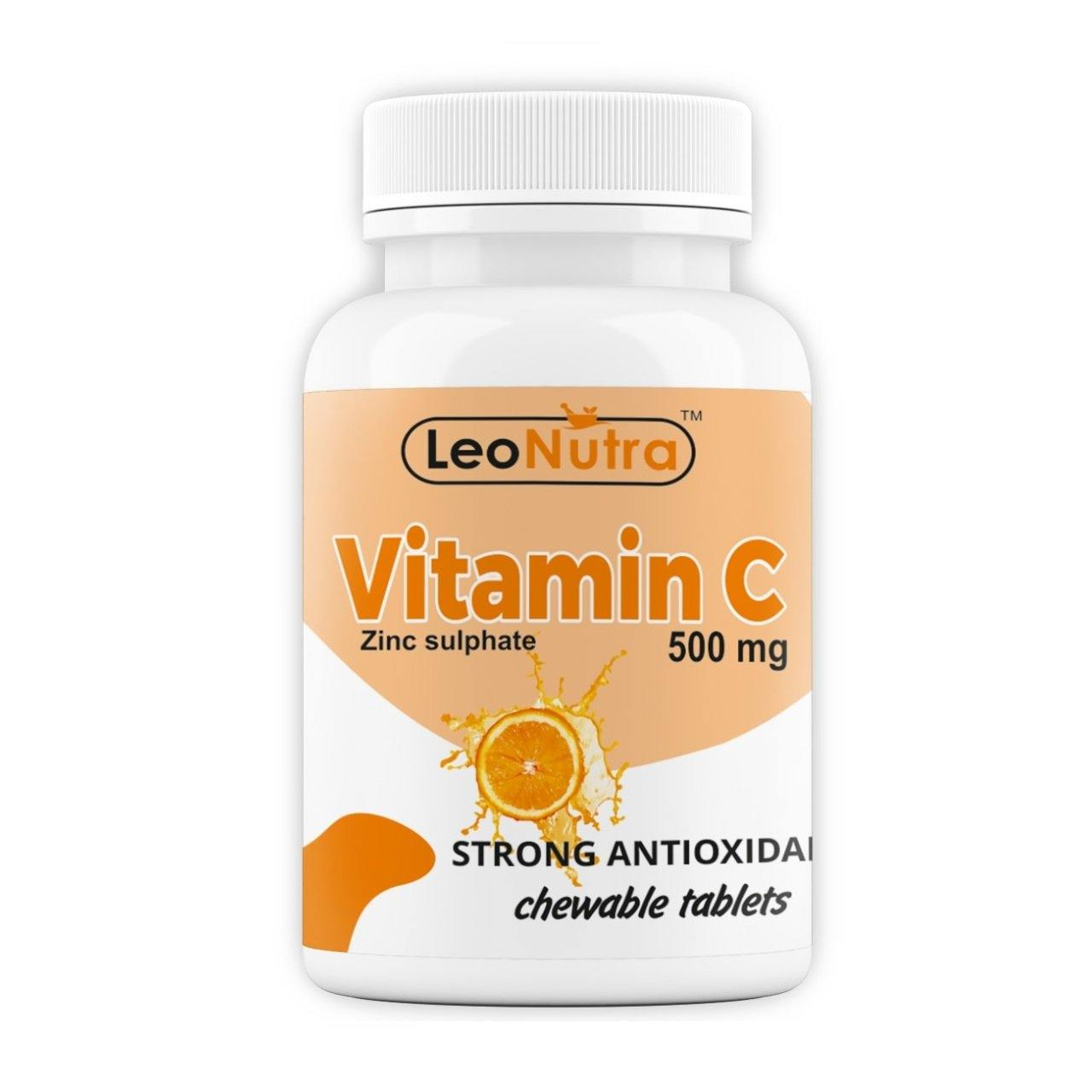 LeoNutra Vitamin C 500 mg | Immunity | Strong Antioxidant | 60 Chewable Tablets