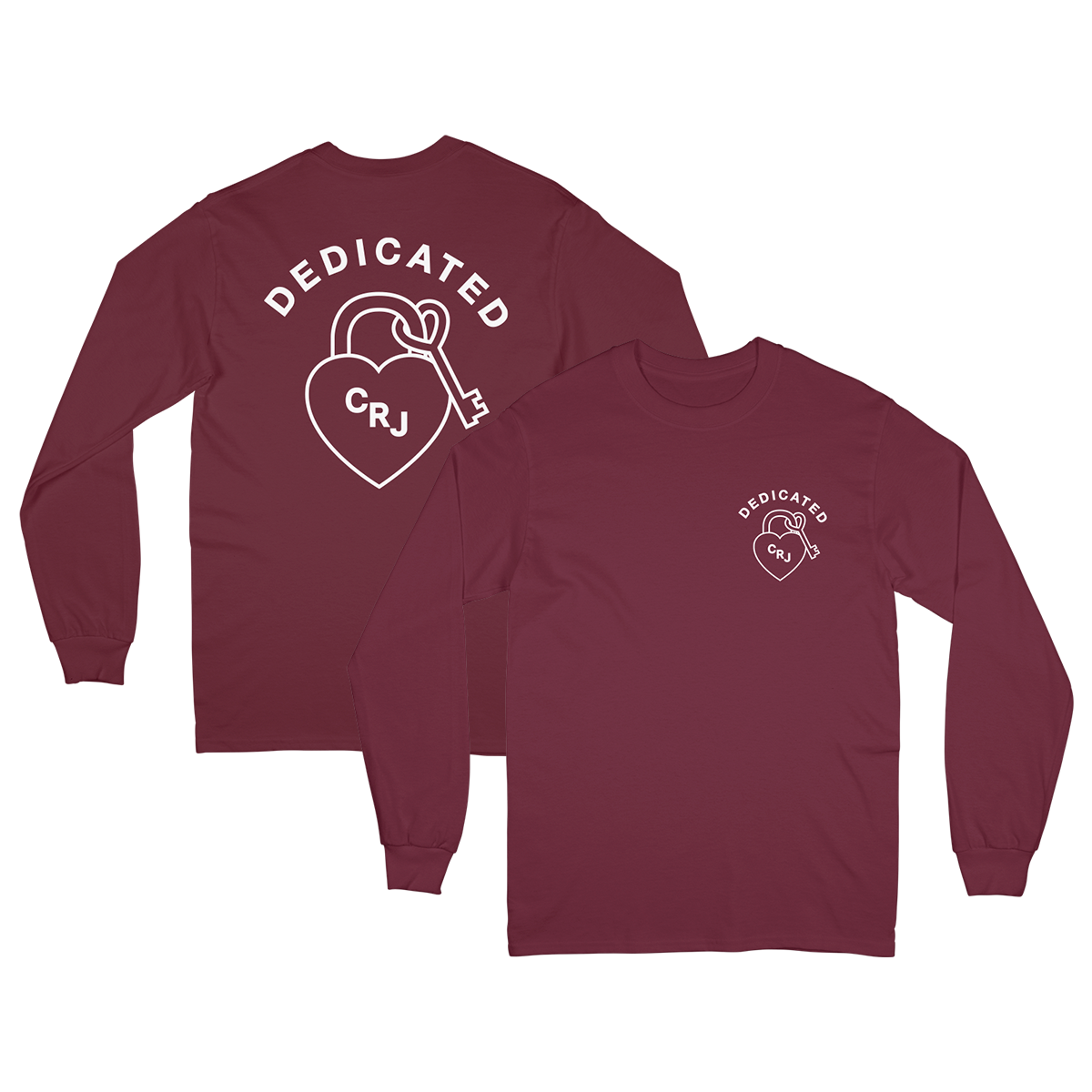 Dedicated Maroon Long Sleeve Tee