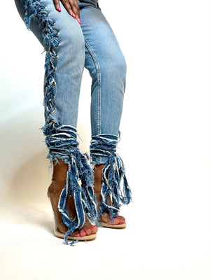 Sewtied Up Jeans