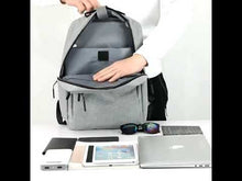 Load and play video in Gallery viewer, Double shoulder USB backpack both for business and leisure version