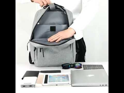 Double shoulder USB backpack both for business and leisure version