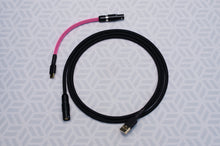 Load image into Gallery viewer, Black and Neon Pink Quick Disconnect USB 2.0 Cable