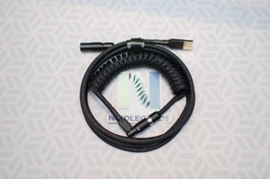 Coiled Custom Mechanical Keyboard USB-2.0 Cable with Quick Disconnect