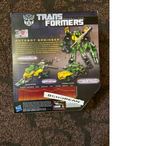 TRANSFORMERS Generations Thrilling 30 Voyager Class Springer Triple Changer