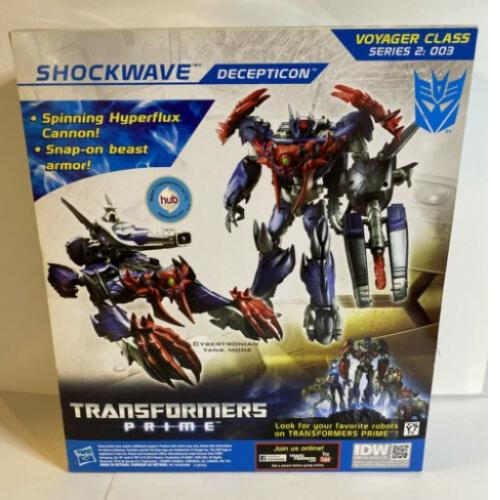 Hasbro Transformers Prime Beast Hunters Voyager Class Shockwave Figure