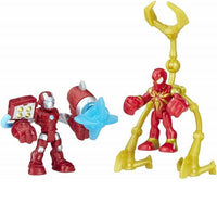 Playskool Heroes Marvel Super Hero Adventures IRON MAN & IRON SPIDER Mini Figure