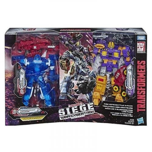 HASBRO Transformers SIEGE DELUXE FAN VOTE BATTLE 3-PACK Action Figure Exclusive