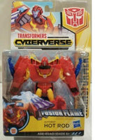 Transformers Cyberverse Action Attackers Warrior Class Fusion Flame Hot Rod