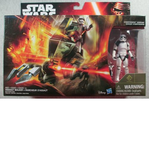 "Assault Walker W/ Sergeant - Sealed 3.75"" Figure & Vehicle  Star Wars Rebels"