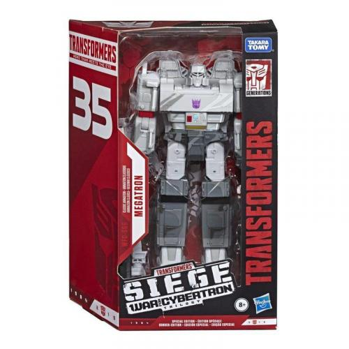 Hasbro Transformers SIEGE 35th Voyager Classic Animation Megatron Action Figure