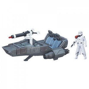 STAR WARS 3.75 INCH  FIRST ORDER SNOWSPEEDER + SNOWTROOPER OFFICER FORCE AWAKENS