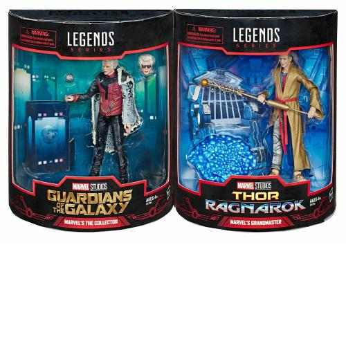 "Hasbro Marvel Legends Studios 6"" The Collector & Grandmaster Sdcc 2019 New"