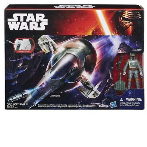Star Wars Force Awakens Boba Fett & Slave1 star ship Action Figure New / Sealed