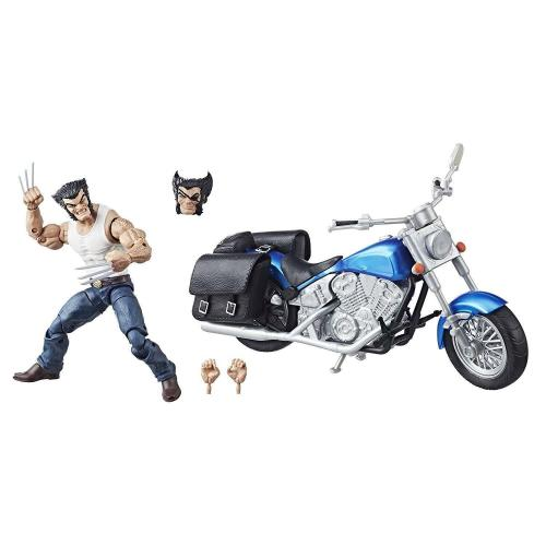"HASBRO MARVEL LEGENDS 6"" INCH LOGAN WOLVERINE WITH MOTORCYCLE ACTION FIGURE"