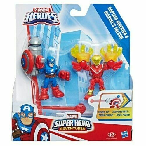 Playskool Heroes Marvel Super Hero Captain America and Marvel's Falcon