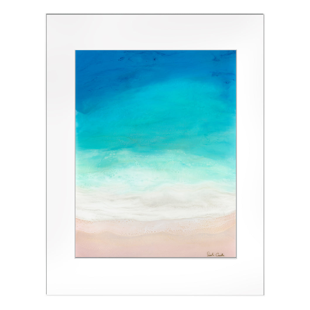 "【Sarah Caudle / サラカードル】""Beach Dreaming""Matted Print"