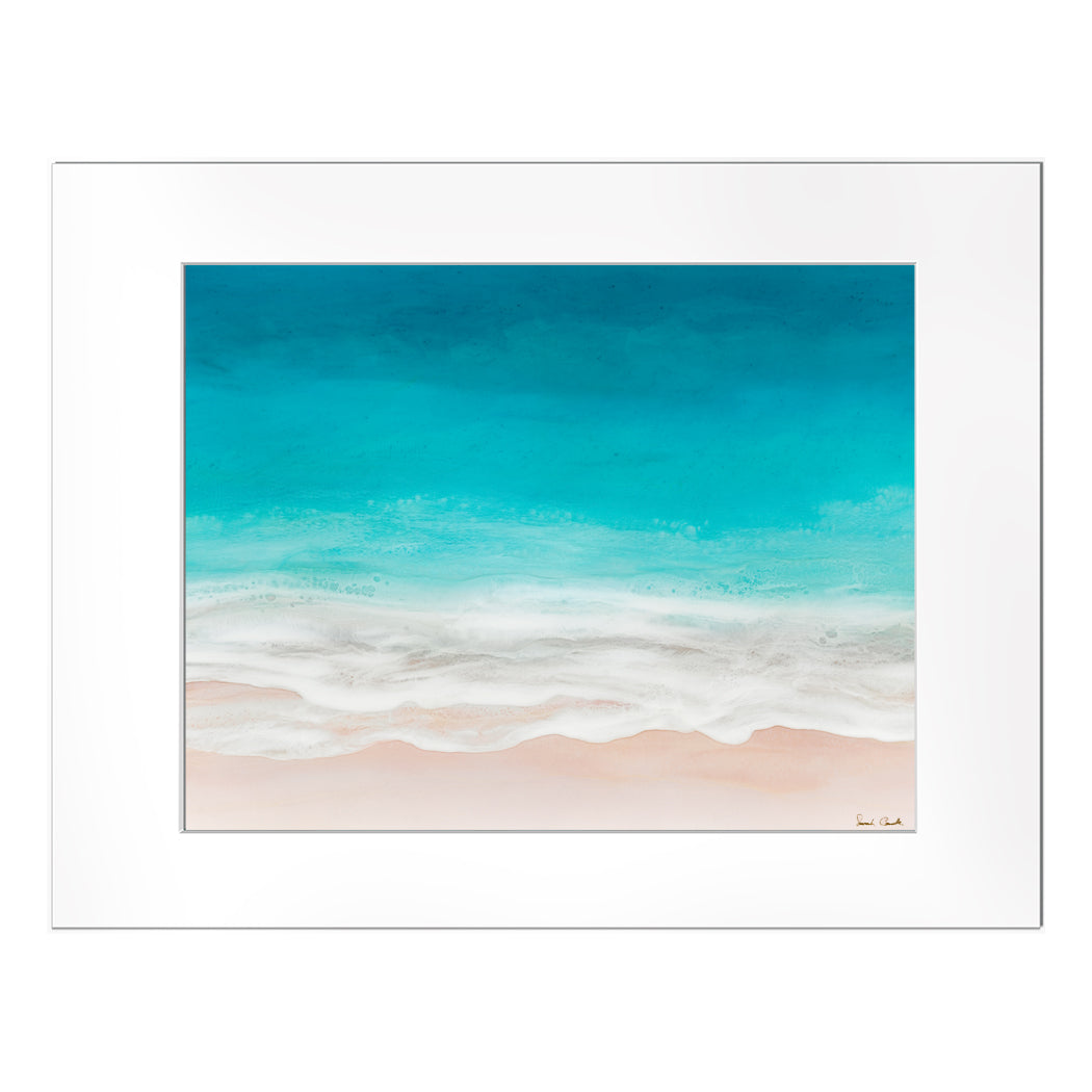 "【Sarah Caudle / サラカードル】""Waves of Happiness""Matted Print"