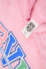 Load image into Gallery viewer, YOUTH BVH Varsity Hoodie | Lt. Pink