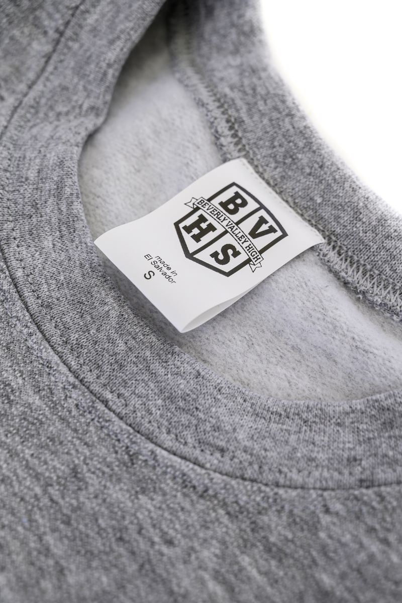 YOUTH Beverly Valley High Pullover | Heather Grey