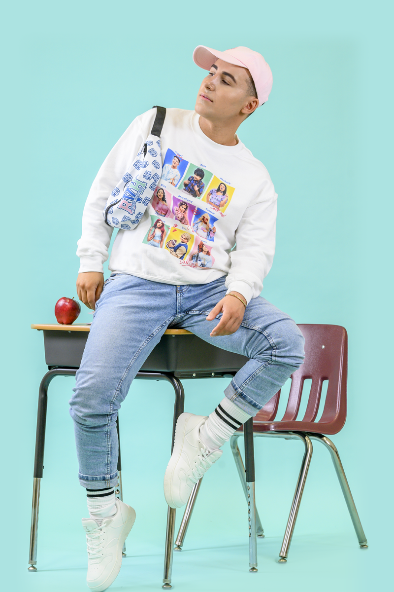 Yearbook Pullover Sweatshirt | White