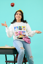 Load image into Gallery viewer, Yearbook Pullover Sweatshirt | White