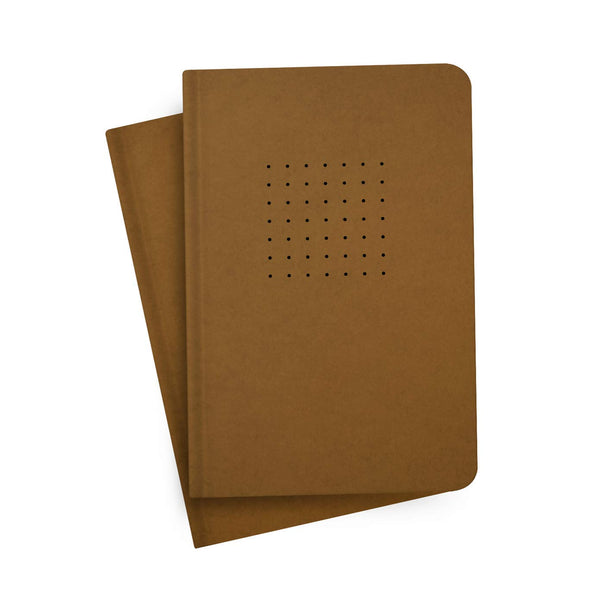 Kraft-Cover Notebooks (90 GSM / Pack of 2)
