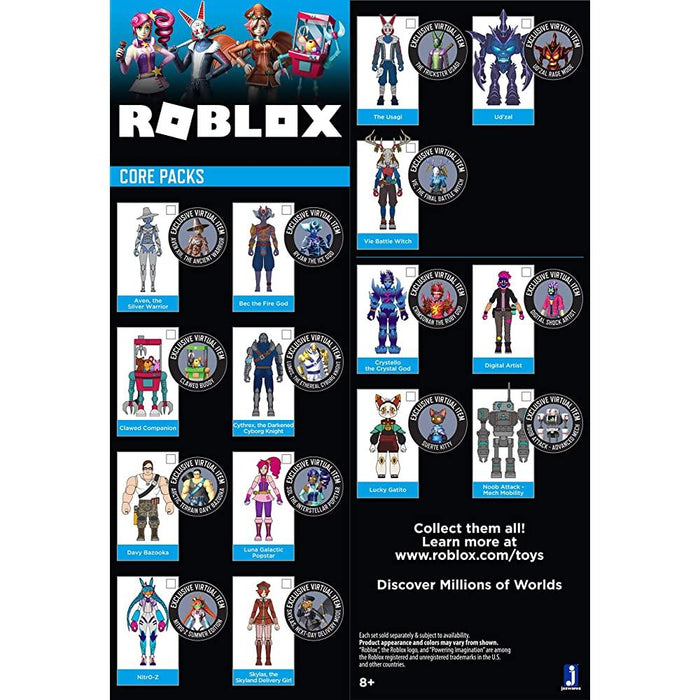 Roblox - Imagination - Aven, The Silver Warrior Figure Pack