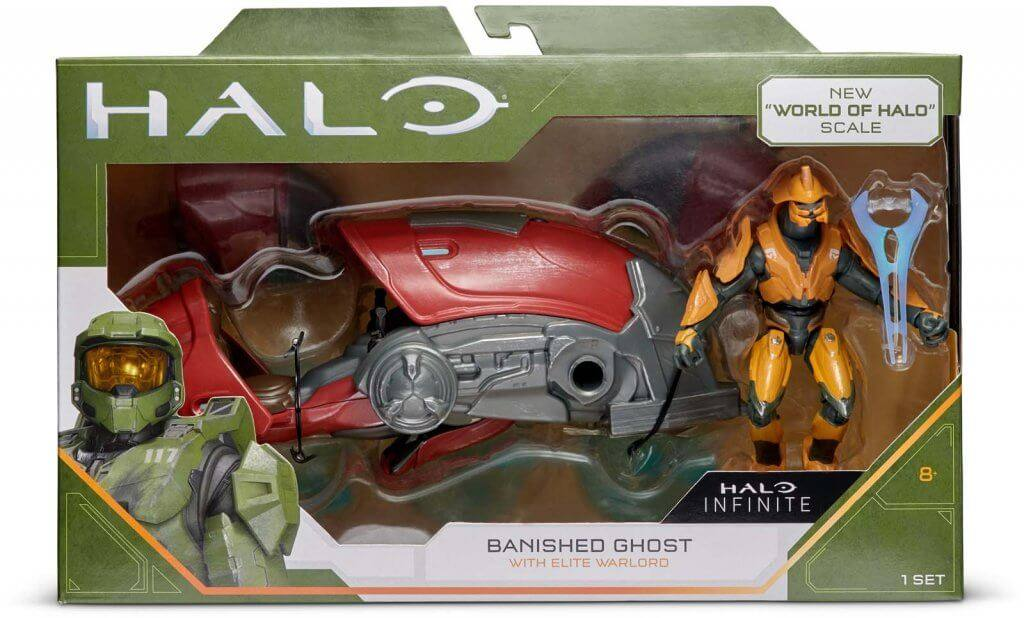 "HALO 3.75"" Figure & Large Vehicle - Banished Ghost With Elite Warlord"