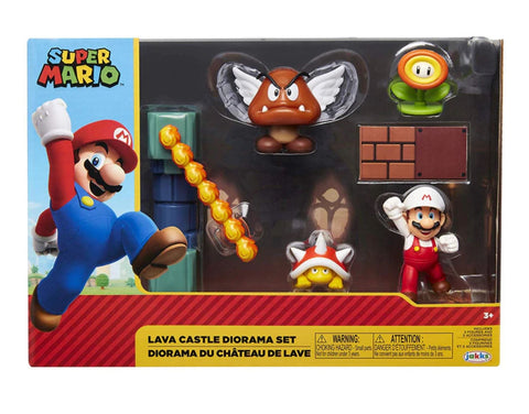 "World of Nintendo 2.5"" Lava Castle Diorama Set (5 Figures)"